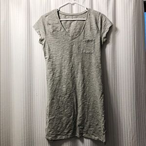 Gray cotton t-shirt dress